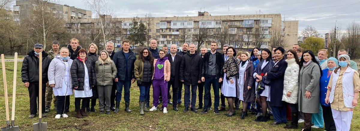 Озеленення території ОКНП «Буковинського клінічнного онкологічного центру». 1
